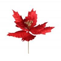 Decoratiune Craciun, tip floare, rosie, D 18 cm, SYH19-002