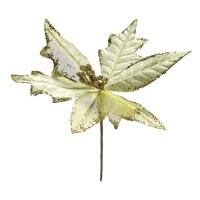 Decoratiune Craciun, tip floare, aurie, 24 cm, SYH19-009