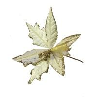 Decoratiune Craciun, tip floare, aurie, D 24 cm, SYH19-009