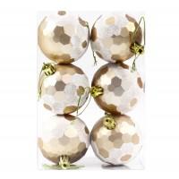 Globuri Craciun, champagne, D 6 cm, set 6 bucati, SYQC-011991
