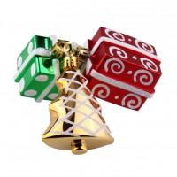 Set decoratiuni Craciun, verde+auriu+rosu, 3 bucati, SYQC-0119169