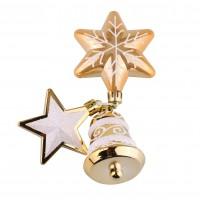 Set decoratiuni Craciun, auriu, 3 bucati, SYQC-0119180