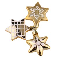 Set decoratiuni Craciun, auriu, 3 bucati, SYQC-0119182