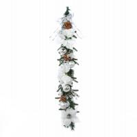 Ghirlanda Craciun, verde + argintiu, 95 cm, SYHHB-0319102