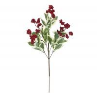 Decoratiune Craciun, tip ramura, rosu + verde, 60 cm, SYHHC-031965