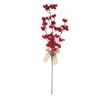 Decoratiune Craciun, tip ramura, rosie, 70 cm, SYHHC-031989