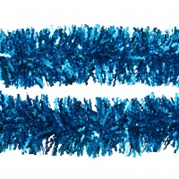 Beteala brad Craciun, albastra, SYMTA-171940, D 11 cm, 2 m