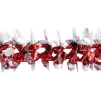 Beteala brad Craciun, rosu + argintiu, SYLH-1719041, D 23.5 cm, 2.4 m
