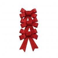 Fundite decorative Craciun, rosii, 10 x 11 cm, set 3 bucati, SYHDJ-341903B