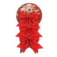 Fundite decorative Craciun, rosii, 10.5 x 11 cm, set 3 bucati, SYHDJ-341911B