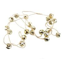 Decoratiune Craciun, tip lant cu clopotei, aurii, SYTLD-231930