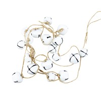 Decoratiune Craciun, tip lant cu clopotei, albi, SYTLD-231931