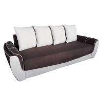 Canapea extensibila 3 locuri Venezia, cu lada, maro + crem, 245 x 105 x 100 cm, 3C