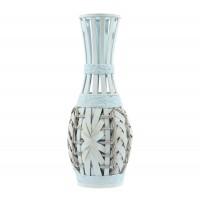 Vaza decorativa bambus, DL-17354, alba, 50 cm