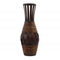 Vaza decorativa bambus, DL-17361, maro, 44.5 cm