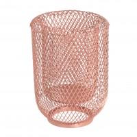 Suport lumanare, metalic, Koopman A16000100, finisaj cupru, 15 cm