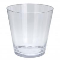 Vaza din sticla transparenta, Koopman DS2000380, H 22 cm