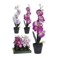 Floare artificiala, Koopman 317002680, orhidee, diverse culori, 45 cm