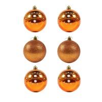 Globuri Craciun, portocalii, D 8 cm, set 6 bucati, SD18-8-S2