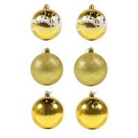 Globuri Craciun, aurii, D 8 cm, set 6 bucati, SD18-8-X5