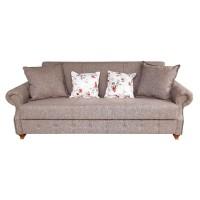 Canapea extensibila 3 locuri Dorina, cu lada, maro, 230 x 90 x 90 cm, 1C