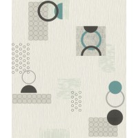 Tapet fibra textila, model geometric, Rasch Selection 809626, 10 x 0.53 m