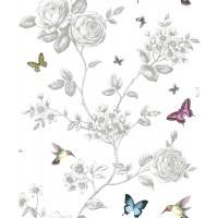 Tapet duplex, model floral, Grandeco 120201 10 x 0.53 m