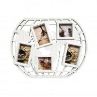 Rama foto, asimetrica, L051, alba, plastic, colaj, 55 x 44 cm