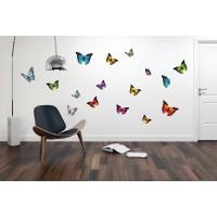 Sticker decorativ perete, dormitor, Fluturi, PT3117 TR, 50 x 70 cm