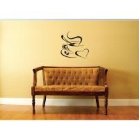 Sticker decorativ perete, living, Coffeee Break, PT3111 TR, 50 x 70 cm