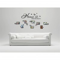 Sticker decorativ perete, living, La noi acasa, PT3114 TR, 50 x 70 cm