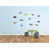 Sticker decorativ perete, living, Pesti 3, PT3123 TR, 50 x 70 cm