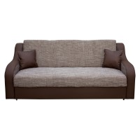 Canapea extensibila 3 locuri Terranova, cu lada, maro + bej, 219 x 94 x 89 cm, 3C