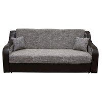 Canapea extensibila 3 locuri Terranova, cu lada, gri + wenge, 219 x 94 x 89 cm, 3C
