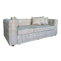 Canapea fixa 3 locuri Carol, crem, 90 x 245 x 77 cm, 3C