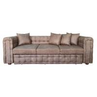 Canapea fixa 3 locuri Carol, maro, 90 x 245 x 77 cm, 3C