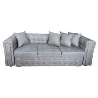 Canapea fixa 3 locuri Carol, gri, 90 x 245 x 77 cm, 3C