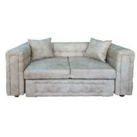 Canapea fixa 2 locuri Carol, crem, 90 x 180 x 77 cm, 3C