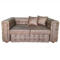 Canapea fixa 2 locuri Carol, maro, 90 x 180 x 77 cm, 3C