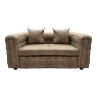 Canapea fixa 2 locuri Carol Y34, maro deschis, 90 x 180 x 77 cm, 3C