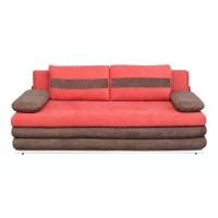 Canapea extensibila 3 locuri Kairo, cu lada, caramiziu + maro, 210 x 112 x 80 cm, 2C