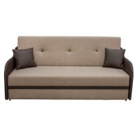 Canapea extensibila 3 locuri Karina, cu lada, bej + maro, 203 x 97 x 100 cm, 3C