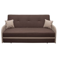 Canapea extensibila 3 locuri Karina, cu lada, maro + bej, 203 x 97 x 100 cm, 3C