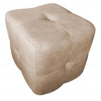Taburet Carol tip cub, fix, patrat, imitatie piele diverse culori, 44 x 44 x 47 cm, 1C