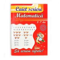 Caiet special de matematica, 24 file, pentru 5-7 ani, 70 g / mp