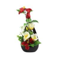 Aranjament flori artificiale T-0085, 35 cm