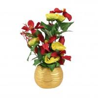Aranjament flori artificiale JYH3505, 35 cm