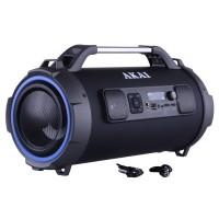 Boxa portabila activa Akai ABTS-13K, 24 W, Bluetooth, USB, micro SD reader, Aux in, radio FM, functie karaoke, neagra