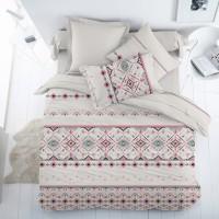 Lenjerie de pat, 2 persoane, Etnico II, 100 % bumbac ranforce, 4 piese, cu imprimeu