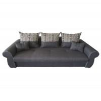 Canapea extensibila 3 locuri Alina, cu lada, gri inchis, 230 x 105 x 90 cm, 2C